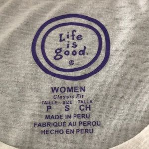 Life Is Good Tops - Life Is Good cream colored t-shirt size S